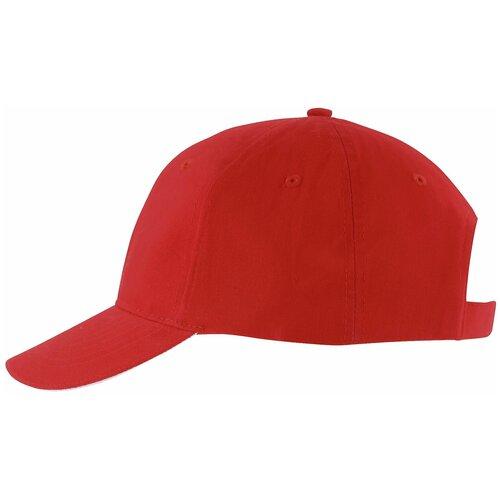 Бейсболка Solar, красная с белым