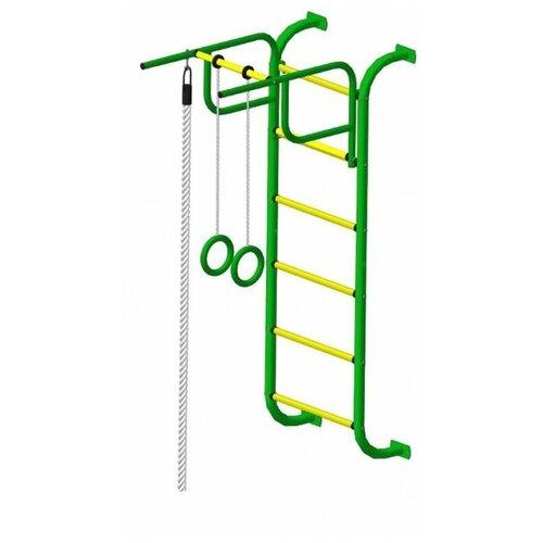 Шведская стенка Пионер 7, зеленый/желтый