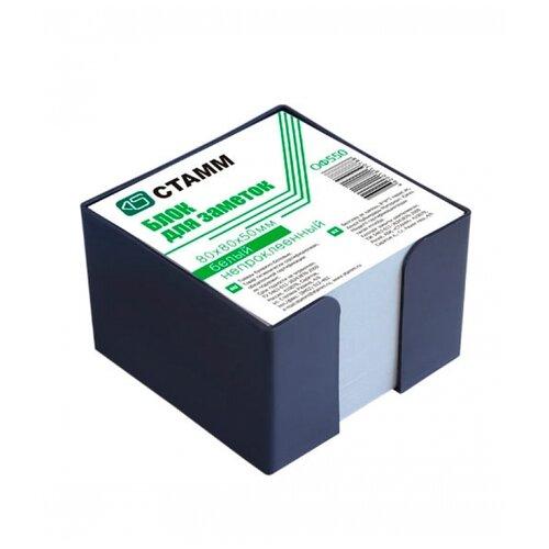 Купить СТАММ Блок для записи Стамм в пластиковом боксе, 8 х 8 х 5 см (ОФ550) белый, Бумага для заметок