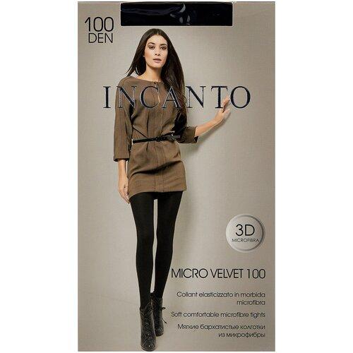 Колготки Incanto Micro Velvet, 100 den, размер 5-XL, nero (черный)