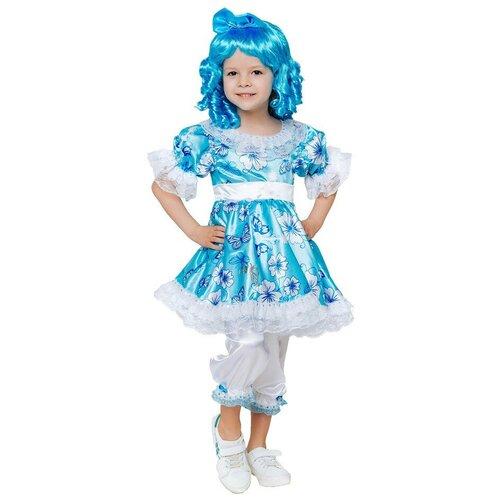 Фото - Костюм пуговка Мальвина (2091 к-20), голубой, размер 128 костюм пуговка кузнечик 2080 к 20 зеленый размер 128