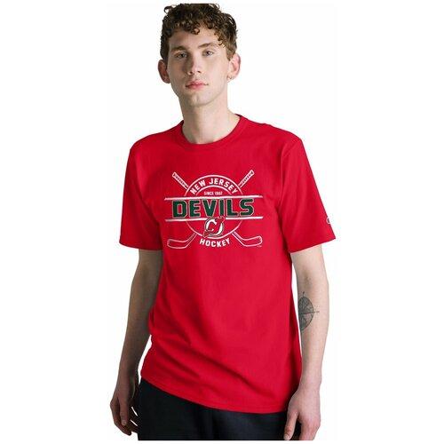 Футболка мужская CHAMPION NHL New Jersey Devils , цвет scarlet, размер 2XL