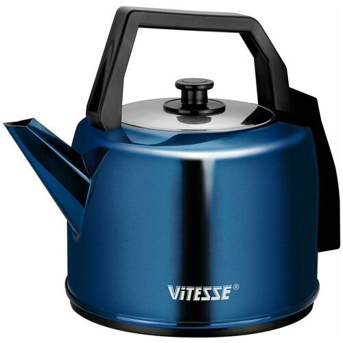 Чайник Vitesse VS-164, синий/черный чайник vitesse vs 172 серебристый черный