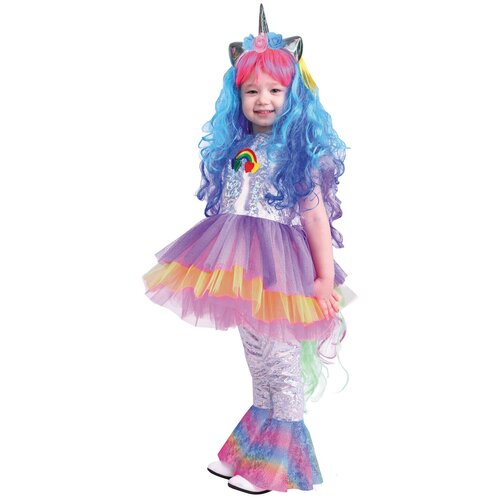 Костюм пуговка Пони Виви (2072 к-19), разноцветный, размер 122, Карнавальные костюмы  - купить со скидкой