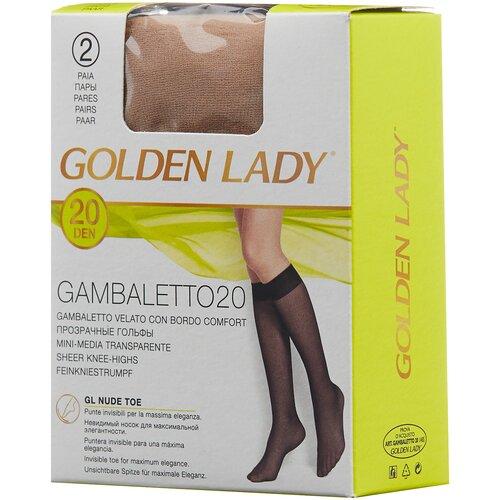 Капроновые гольфы Golden Lady Gambaletto 20 Den, 2 пары, размер 0 (one size), melon
