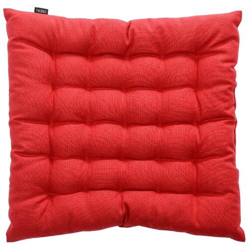 Подушка на стул из хлопка красного цвета russian north, 40х40х4 см