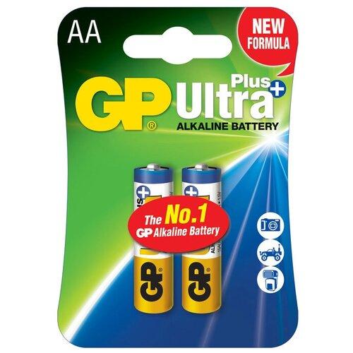 Фото - Батарейка GP Ultra Plus Alkaline AA, 2 шт. батарейка energizer max plus aa 4 шт