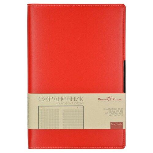 Купить Ежедневник А5 Metropol (красный), Bruno Visconti, Ежедневники