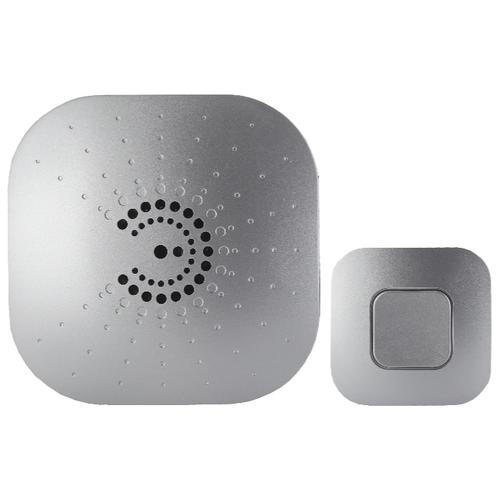 Фото - Звонок с кнопкой ЭРА BIONIC Silver электронный беспроводной (количество мелодий: 6) звонок эра bionic шампань беспроводной б0018091