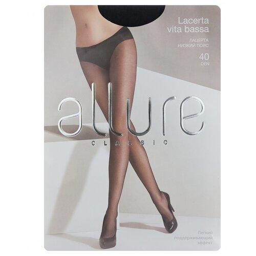 Колготки ALLURE Classic Lacerta Vita Bassa, 40 den, размер 3, nero (черный) колготки allure classic lacerta 20 den размер 3 caramello бежевый