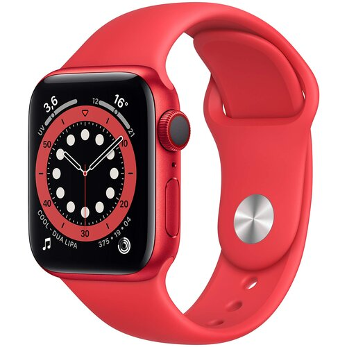 Умные часы Apple Watch Series 6 GPS 40мм Aluminum Case with Sport Band, (PRODUCT)RED умные часы apple watch series 6 gps 44mm aluminum case with sport band white серебристый белый