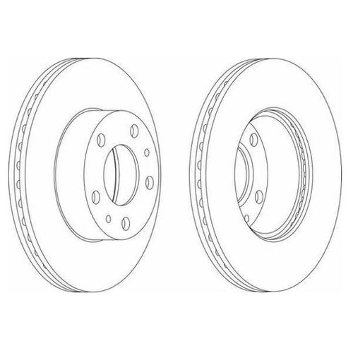 Фото - Тормозной диск Ferodo DDF767 для Citroen JUMPER; Fiat DUCATO; Peugeot BOXER тормозной диск задний miles k010676 280x16 для citroen jumper fiat ducato peugeot boxer