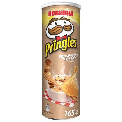 Чипсы Pringles картофельные Mushroom & Cream, 165 г чипсы pringles картофельные spring onion 165 г