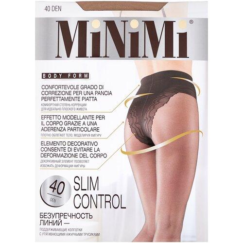 Фото - Колготки MiNiMi Slim Control, 40 den, размер 4-L, caramello (бежевый) колготки minimi slim control 40 den размер 4 l daino бежевый