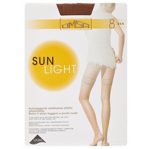 Чулки Omsa Sun Light Aut, 8 den, размер 2-S, sierra (коричневый) чулки omsa malizia 40 den размер 2 s sierra коричневый