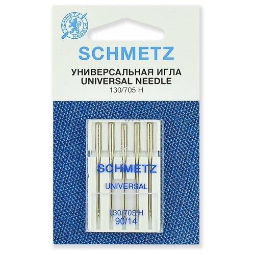 Игла/иглы Schmetz 130/705 Н 90/14 универсальные серебристый игла иглы schmetz 130 705 h zwi 4 90 двойные универсальные серебристый