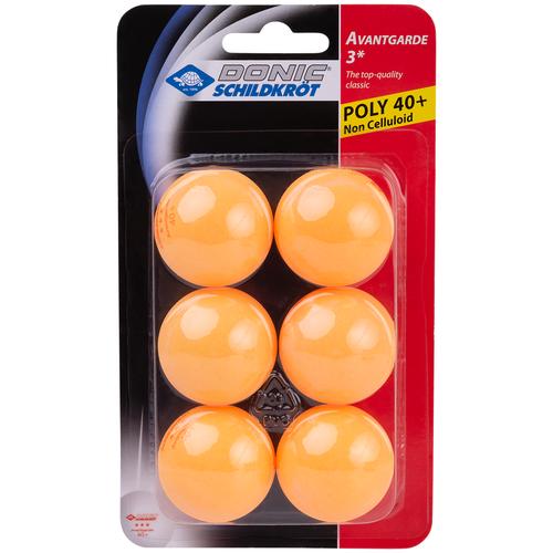 Фото - Мяч для настольного тенниса Donic 3* Avantgarde, оранжевый, 6 шт. мячики для настольного тенниса donic champion 3 120 шт