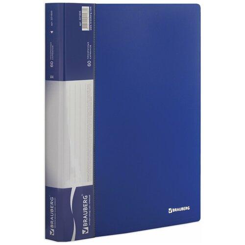 Фото - BRAUBERG Папка-дисплей на 80 вкладышей Стандарт А4 синяя папка 100 вкладышей brauberg стандарт синяя 0 9 мм 221609