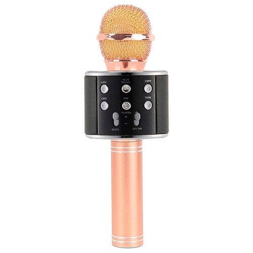 Беспроводной караоке-микрофон WS-858 (небесно розовый)
