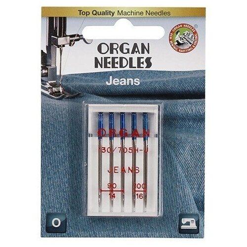 Игла/иглы Organ Jeans 90-100 синий/серебристый
