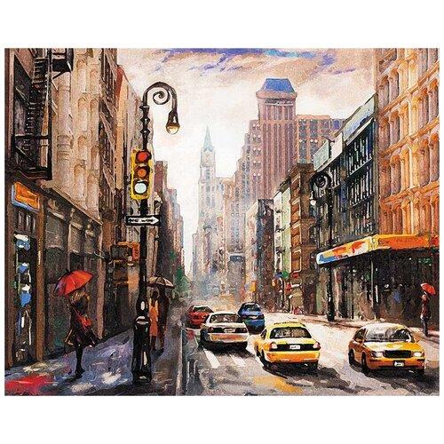 Купить Картина по номерам «Тихая улица», 40x50 см, Цветной (Premium), Картины по номерам и контурам