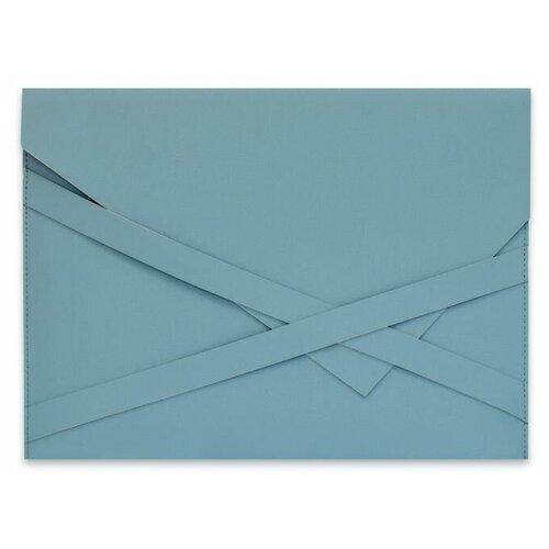 Феникс+ Папка для документов Наппа голубой + наппа серебряный 33х24 см (47089) голубой/серебряный