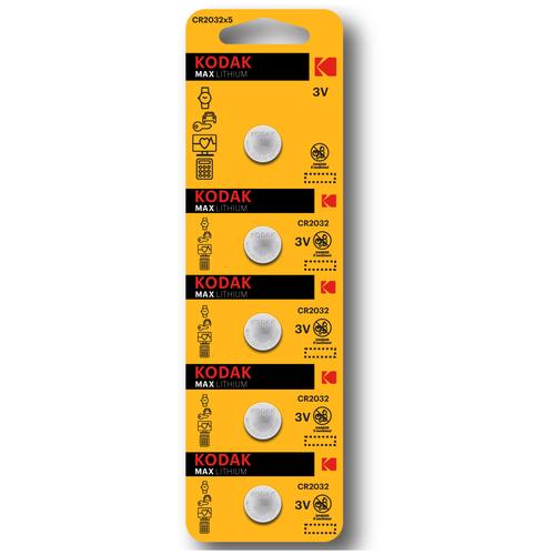 Фото - Батарейка Kodak CR2032, для материнских плат, компьютеров, ноутбуков, часов, калькуляторов, 5 шт батарейка smartbuy cr2032 5 шт