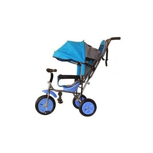 Купить Велосипед детский трехколесный с родительской ручкой Liga PC надувные колеса (голубой), Stiony, Трехколесные велосипеды