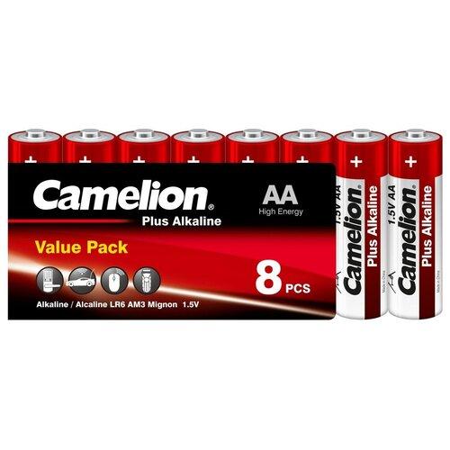 Фото - Батарейка Camelion Plus Alkaline AA, 8 шт. батарейка philips power alkaline aa 4 шт