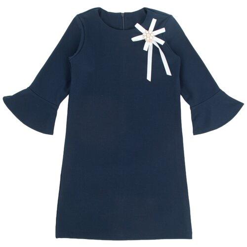 Платье Leader Kids размер 146, синий лонгслив leader kids размер 86 синий