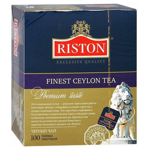 Чай черный Riston Finest Ceylon в пакетиках, 100 шт.
