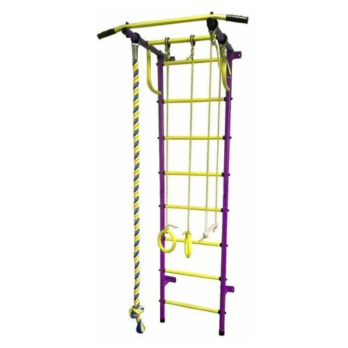 Шведская стенка Пионер С2НМ, пурпурный/желтый шведская стенка пионер с2нм красный желтый