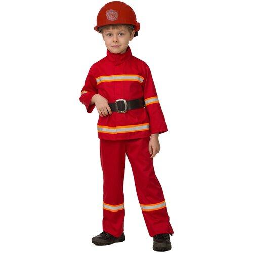 Купить Костюм Батик Пожарный (5705), красный, размер 134, Карнавальные костюмы