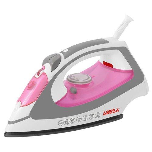 Утюг ARESA AR-3106 белый/розовый/серый утюг aresa ar 3115 серый оранжевый белый