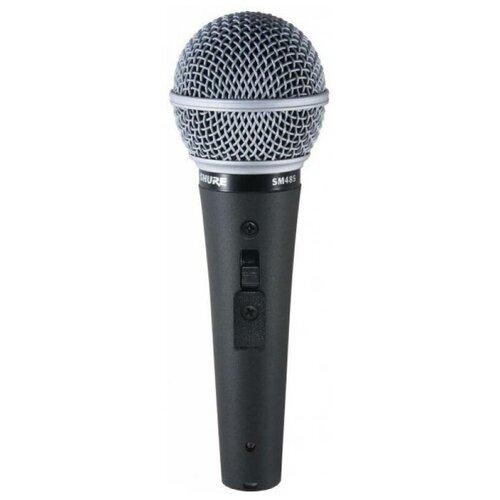 Вокальный кардиоидный динамический микрофон с переключателем Shure SM48S