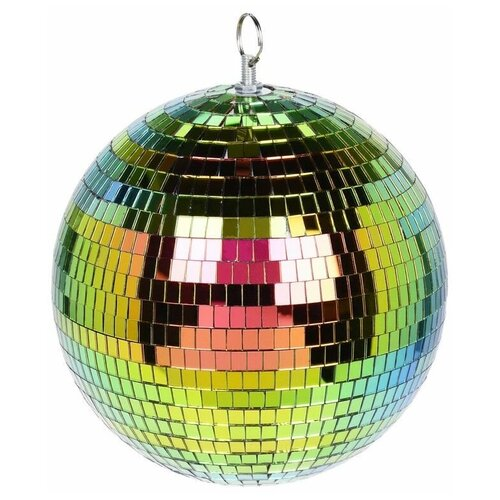 Ёлочный и интерьерный шар ЗЕРКАЛЬНОЕ ДИСКО, пенополистирол, стекло, радужный, 150 мм, Koopman International CAA114440