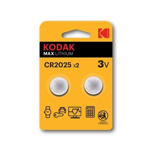 Фото - Батарейка Kodak CR2025-2BL батарейка kodak 23a сигнализаций пультов игрушек электрошокеров