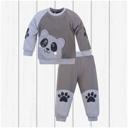 Фото - Комплект одежды Утенок размер 110, серый/меланж комплект одежды утенок размер 98 белый черный