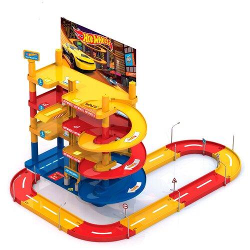 Нордпласт Hot Wheels 431230, красный/голубой/желтый/черный/белый