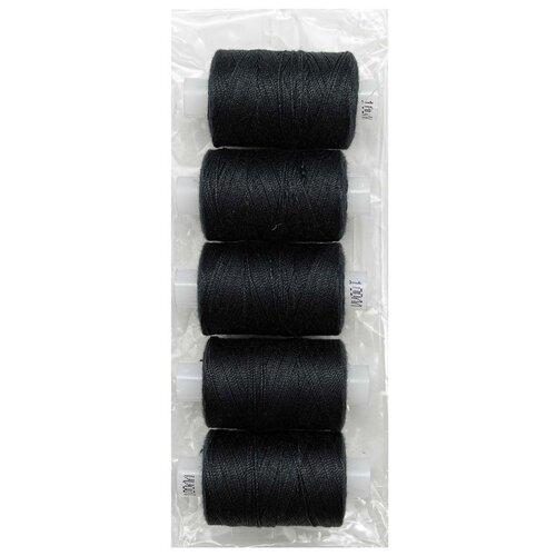 Купить Армированные швейные бытовые нитки 100ЛЛ черный 5 шт, ПРЯДИЛЬНО-НИТОЧНЫЙ КОМБИНАТ ИМЕНИ С.М. КИРОВА, Нитки