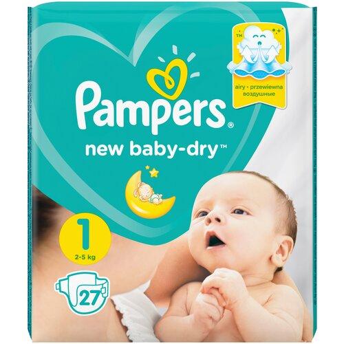 Фото - Pampers подгузники New Baby Dry 1 (2-5 кг), 27 шт. pampers подгузники new baby dry 1 2 5 кг 27 шт