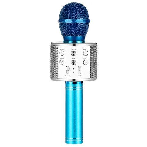 Беспроводной караоке-микрофон WS-858 (серебристый океан)