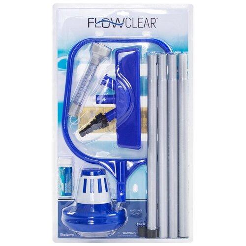 Фото - Bestway Набор для чистки бассейна 58195 (длина ручки 172 см) набор для чистки бассейна bestway 58195 сачок щетка трубка насадка фильтр термометр