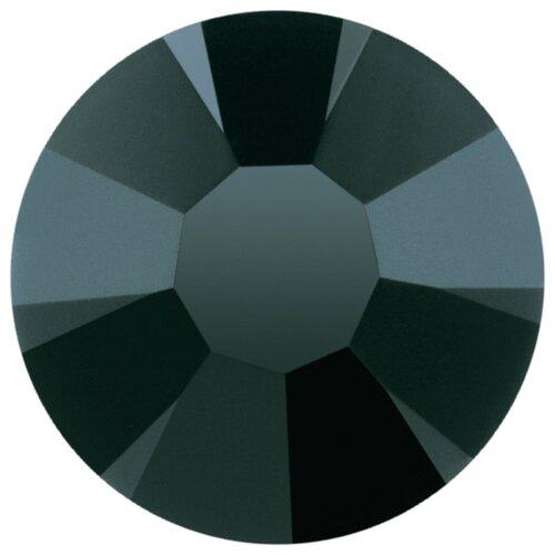 Купить Стразы клеевые PRECIOSA 4, 7 мм, стекло, 144 шт, черные, 23980 (438-11-615 i), Фурнитура для украшений