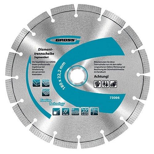 Фото - Диск отрезной алмазный GROSS 73003 алмазный диск gross 115х22 2мм 73028