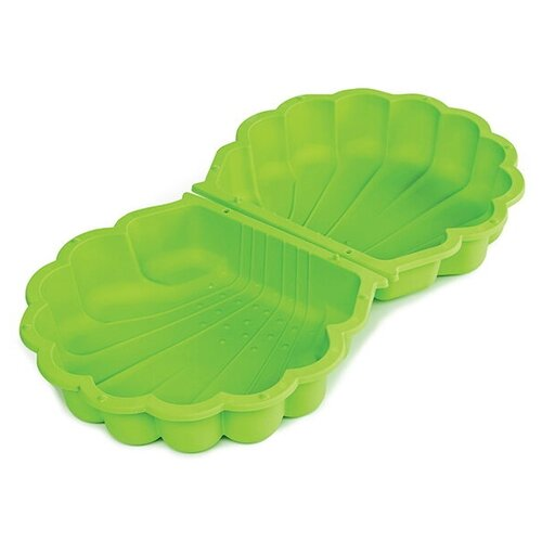 Купить Песочница-бассейн Paradiso Ракушка с крышкой маленькая, 77.7х87 см, зеленый, Песочницы