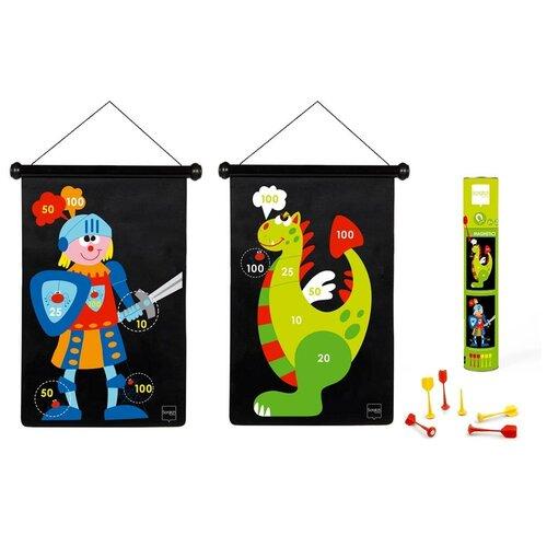 Фото - Магнитный дартс Scratch Europe Рыцарь и Дракон (6182002) черный/зеленый/синий/красный рыцарь и дракон раскраска м 034