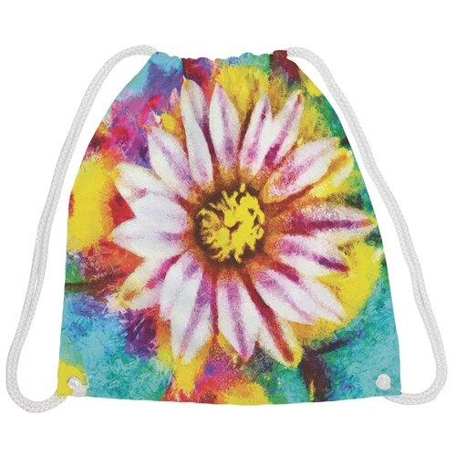 JoyArty Рюкзак-мешок Цветок вспыхнул bpa_19294, розовый/желтый/голубой joyarty рюкзак мешок радужные окошки bpa 207087 голубой