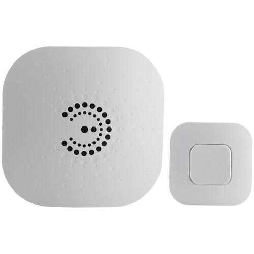 Фото - Звонок с кнопкой ЭРА BIONIC White электронный беспроводной (количество мелодий: 6) звонок эра bionic шампань беспроводной б0018091