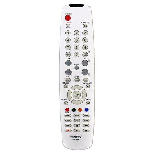 Фото - Пульт ДУ Huayu RM-766W для телевизоров Samsung, серый пульт huayu rm 016fc универсальный для телевизоров samsung